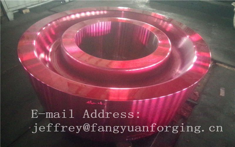 ASTM AISI  DIN 36CrNiMo4 JIS SNCM439 Forged Gear Blank Internal Gear RIng Blanks Alloy Steel